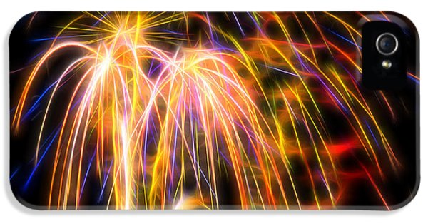 IPhone 5 Case featuring the photograph Colorful Fractal Fireworks #1 by Yulia Kazansky