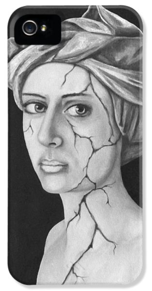 Fractured Identity Bw IPhone 5 Case by Leah Saulnier The Painting Maniac