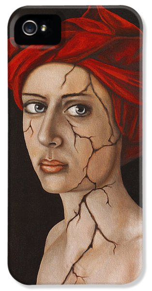 Fractured Identity Edit 3 IPhone 5 Case by Leah Saulnier The Painting Maniac