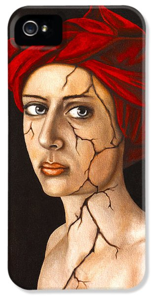 Fractured Identity Edit 4 IPhone 5 Case by Leah Saulnier The Painting Maniac