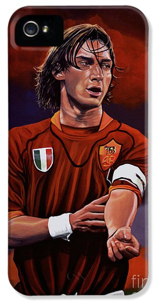 Francesco Totti IPhone 5 Case by Paul Meijering