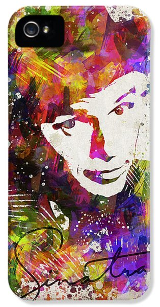 Frank Sinatra In Color IPhone 5 Case by Aged Pixel