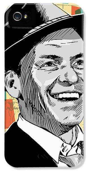 Frank Sinatra Pop Art IPhone 5 Case by Jim Zahniser