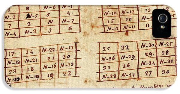 Franklin's Magic Squares IPhone 5 Case by American Philosophical Society