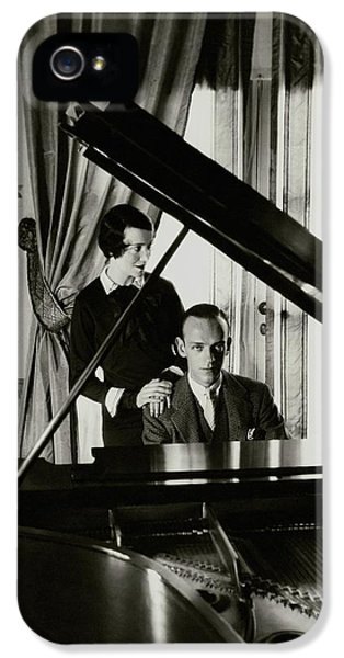 Fred And Adele Astaire At A Piano IPhone 5 Case by Cecil Beaton