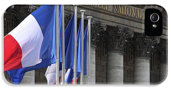 French Flags At The National Assembly IPhone 5 Case by William Sutton
