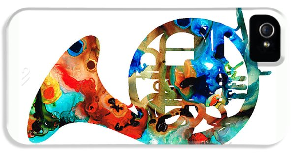 French Horn - Colorful Music By Sharon Cummings IPhone 5 / 5s Case by Sharon Cummings