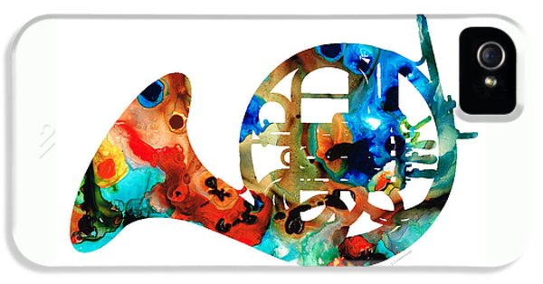 French Horn - Colorful Music By Sharon Cummings IPhone 5 Case by Sharon Cummings