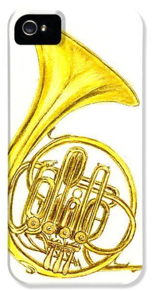 French Horn IPhone 5 Case by Michael Vigliotti