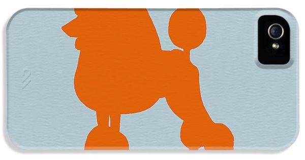 French iPhone 5 Case - French Poodle Orange by Naxart Studio