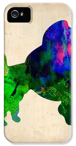French Poodle Watercolor IPhone 5 Case by Naxart Studio