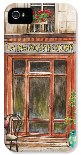 French Storefront 1 IPhone 5 Case by Debbie DeWitt