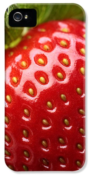 Fresh Strawberry Close-up IPhone 5 Case by Johan Swanepoel
