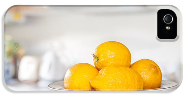 Lemon iPhone 5 Case - Freshly Picked Lemons by Amanda Elwell