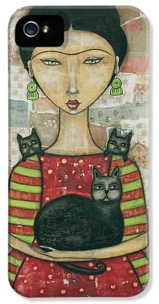 Frida And Friends IPhone 5 Case by Natalie Briney