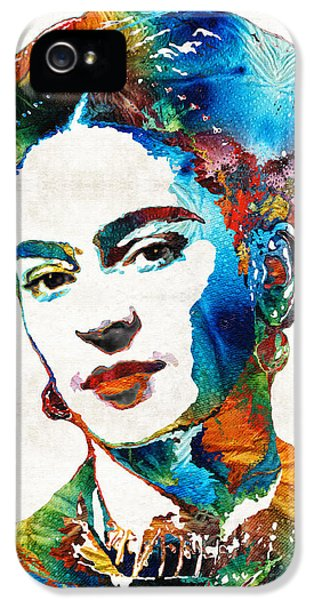 Portraits iPhone 5 Case - Frida Kahlo Art - Viva La Frida - By Sharon Cummings by Sharon Cummings