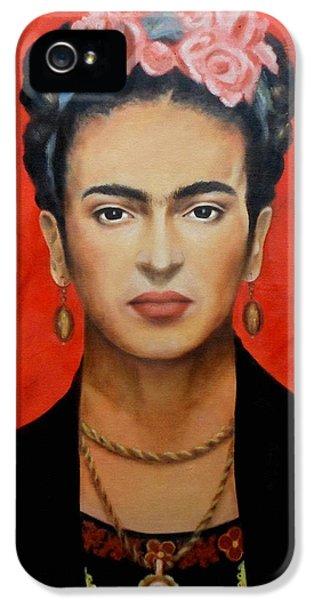 Frida Kahlo IPhone 5 Case by Elena Day