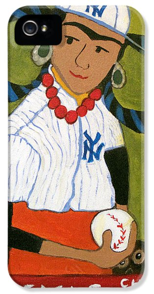 Frida Kahlo's Rookie Card IPhone 5 Case by Jennie Cooley