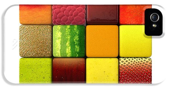 Fruit Cubes IPhone 5 Case by Allan Swart