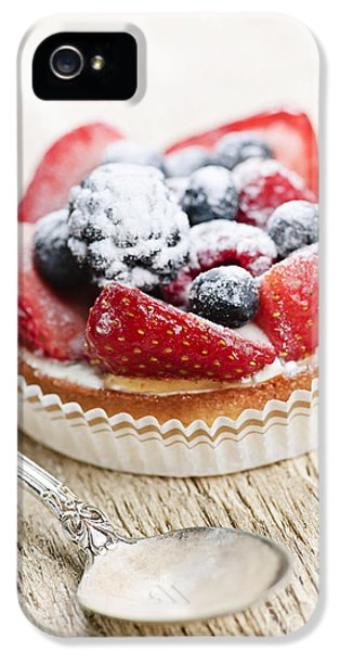 Fruit Tart With Spoon IPhone 5 Case