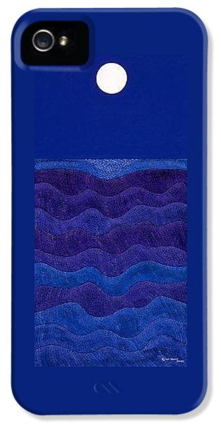 iPhone 5 Case - Full Moonscape II by Synthia SAINT JAMES