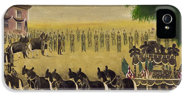 Funeral Car Of President Lincoln Circa 1879 IPhone 5 Case by Aged Pixel