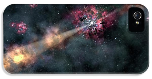Gamma-ray Burst IPhone 5 Case by Gemini Observatory/aura, Artwork By Lynette Cook