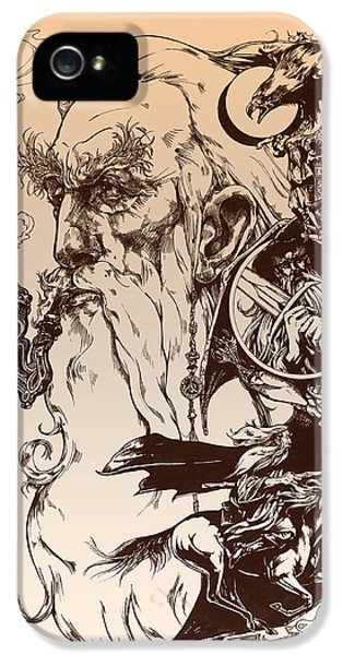Wizard iPhone 5 Case - gandalf- Tolkien appreciation by Derrick Higgins