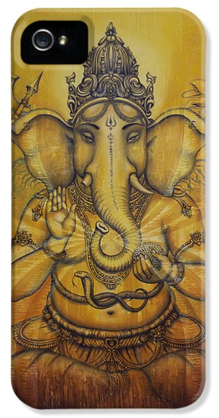Ganesha Darshan IPhone 5 Case