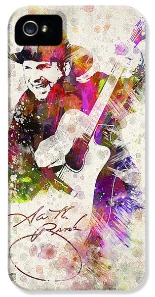 Saxophone iPhone 5 Case - Garth Brooks by Aged Pixel