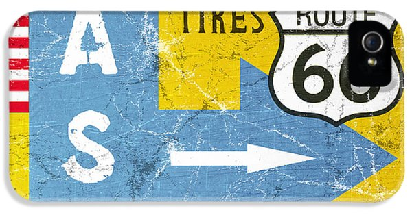 Truck iPhone 5 Case - Gas Next Exit- Route 66 by Linda Woods