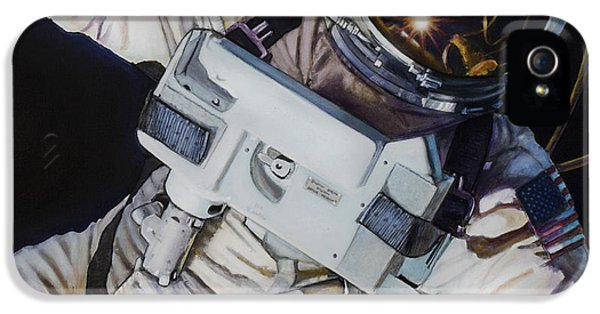 Moon iPhone 5 Case - Gemini Iv- Ed White by Simon Kregar