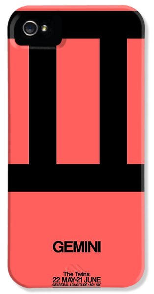 Gemini Zodiac Sign Black IPhone 5 Case