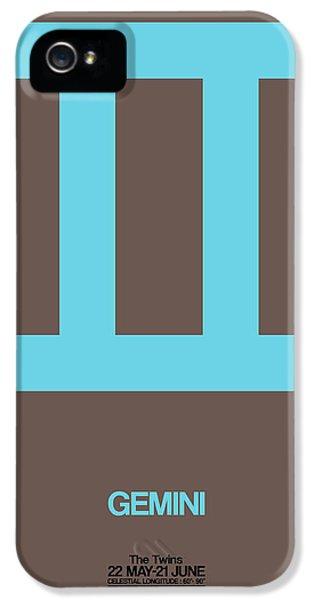 Gemini Zodiac Sign Blue IPhone 5 Case