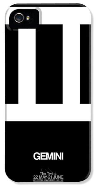 Gemini Zodiac Sign White IPhone 5 Case