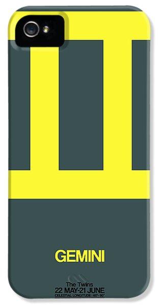 Gemini Zodiac Sign Yellow IPhone 5 Case