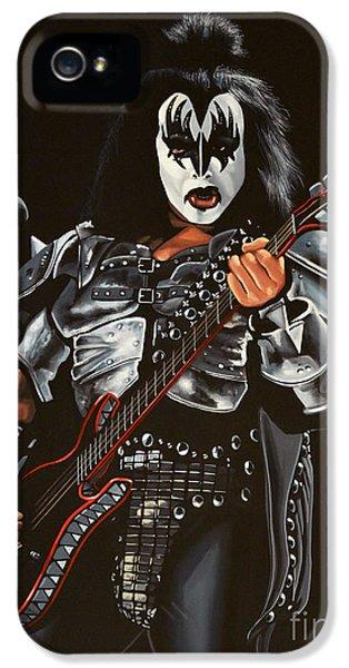 Gene Simmons Of Kiss IPhone 5 Case by Paul Meijering