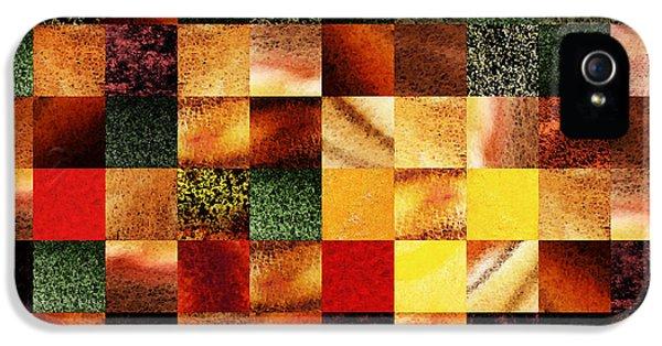 Geometric Abstract Design Sunset Squares IPhone 5 Case by Irina Sztukowski