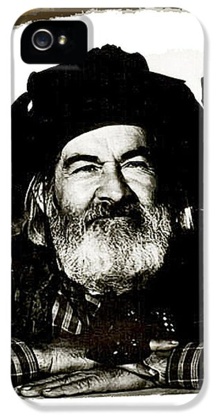 George Hayes Portrait #1 Card IPhone 5 Case by David Lee Guss