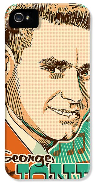Johnny Cash iPhone 5 Case - George Jones Pop Art by Jim Zahniser