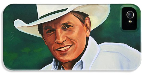 George Strait IPhone 5 Case by Paul Meijering