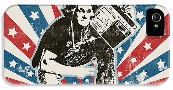 George Washington - Boombox IPhone 5 Case by Pixel Chimp