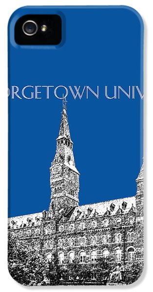 Georgetown University - Royal Blue IPhone 5 Case by DB Artist