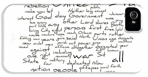 Gettysburg Address-emancipation Proclamation-second Inaugural Address-word Cloud IPhone 5 Case