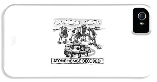Giant Cavemen Play Croquet Using The Stonehenge IPhone 5 Case