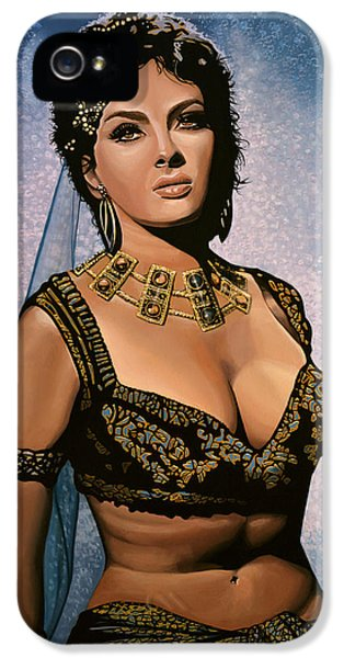 Falcon iPhone 5 Case - Gina Lollobrigida Painting by Paul Meijering