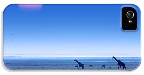Giraffes On Salt Pans Of Etosha IPhone 5 Case