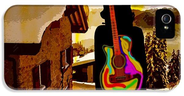 Girl Guitar Mountain Top IPhone 5 Case