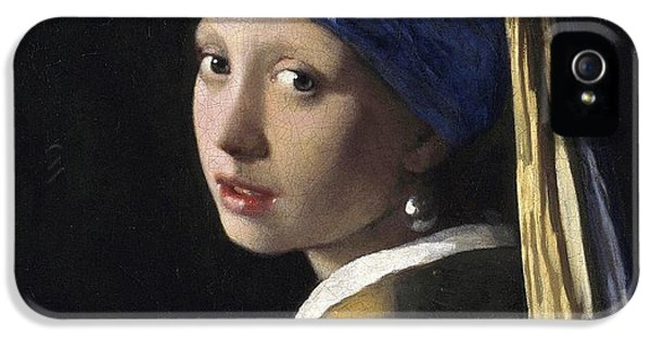 Girl With A Pearl Earring IPhone 5 Case by Johannes Vermeer
