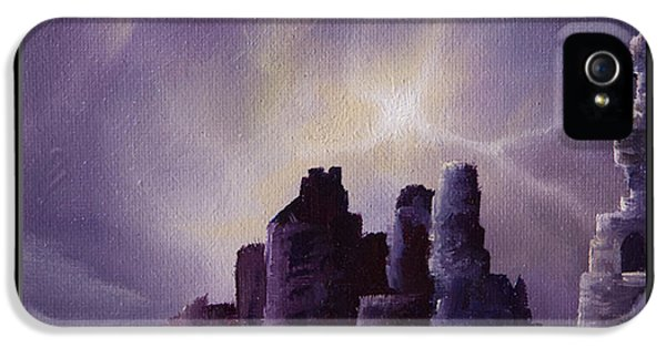 Girnigoe Castle IPhone 5 Case by James Christopher Hill